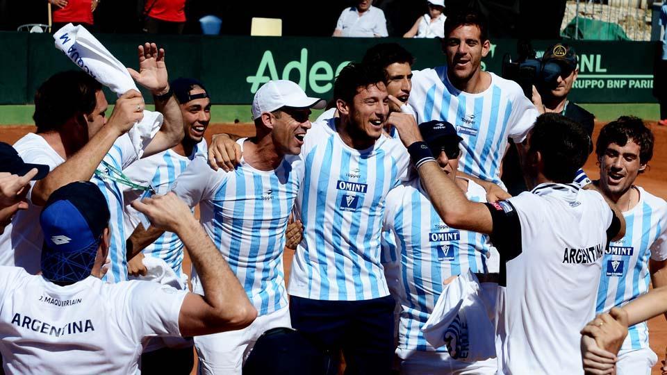 Festejo argentino copa davis