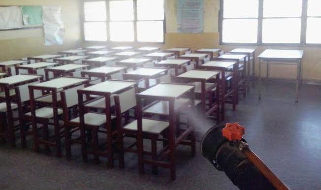 fumigan aula