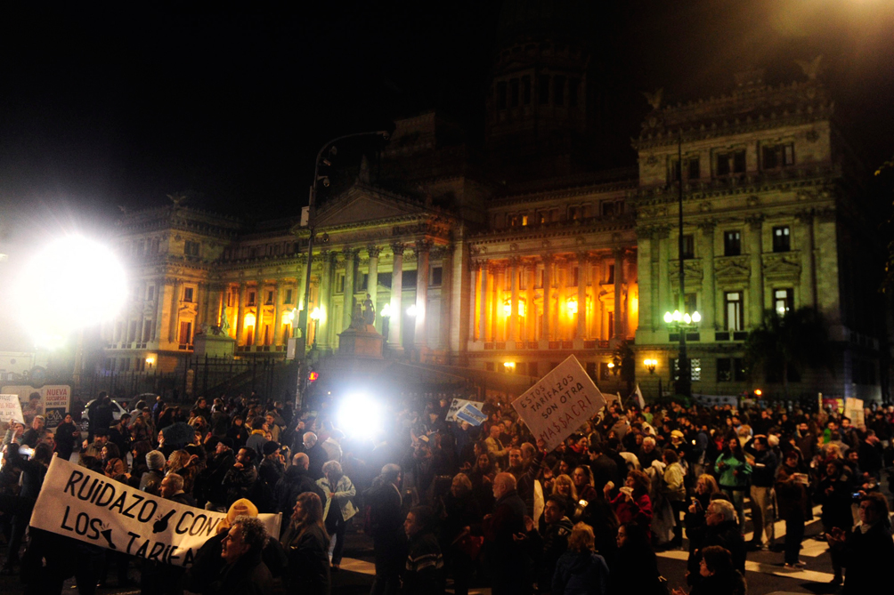 Ruidazo en plaza Congreso