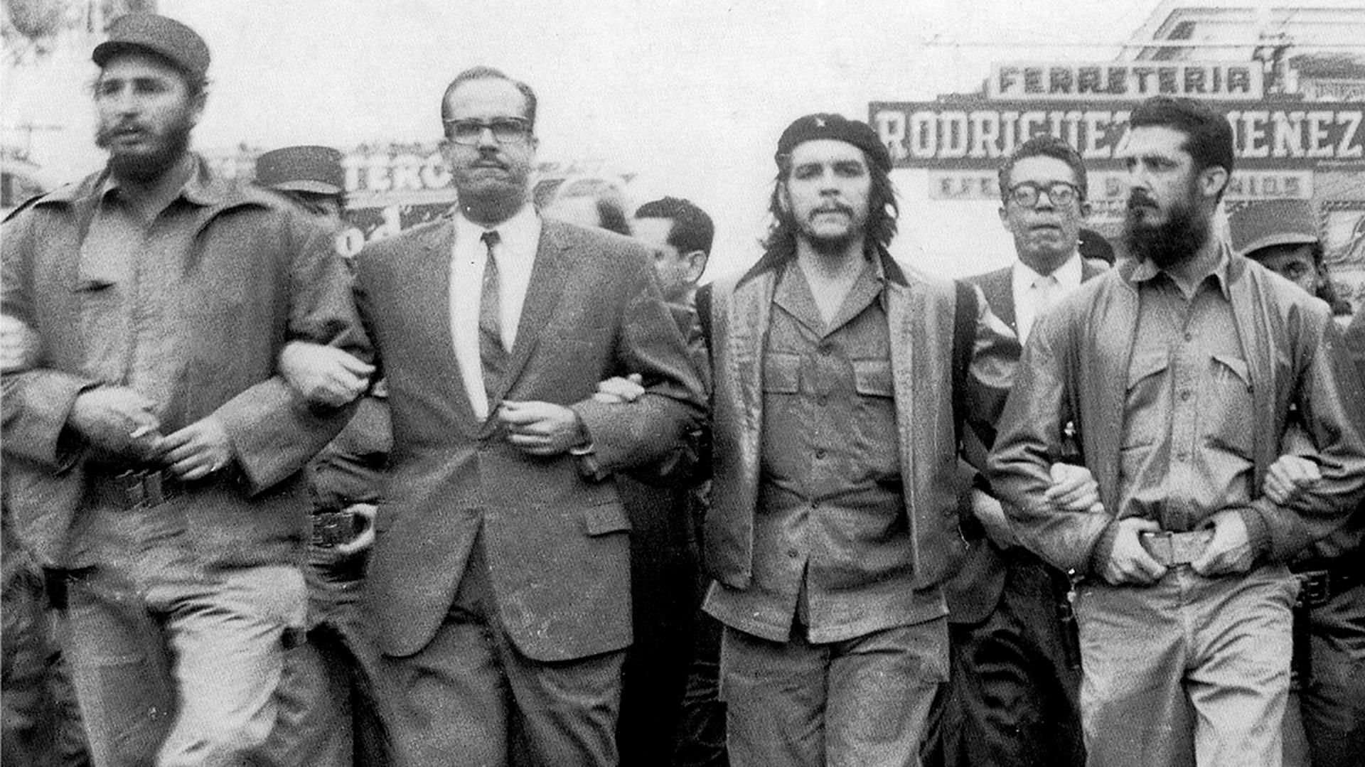Fidel Castro, Osvaldo Dorticos, Ernesto Guevara, Augusto Martinez. 1959