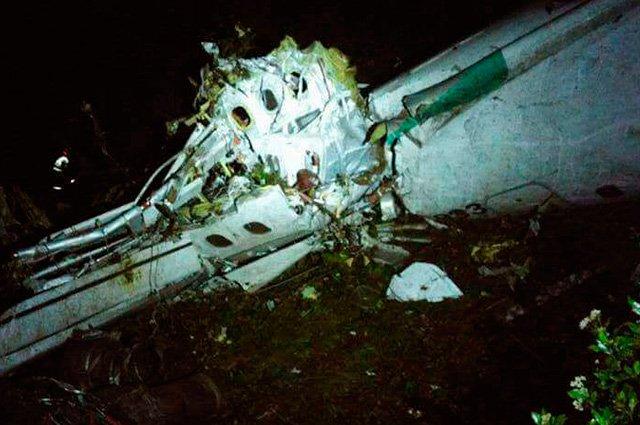 Una de las primeras imágenes que se difundieron del avión de la tragedia.