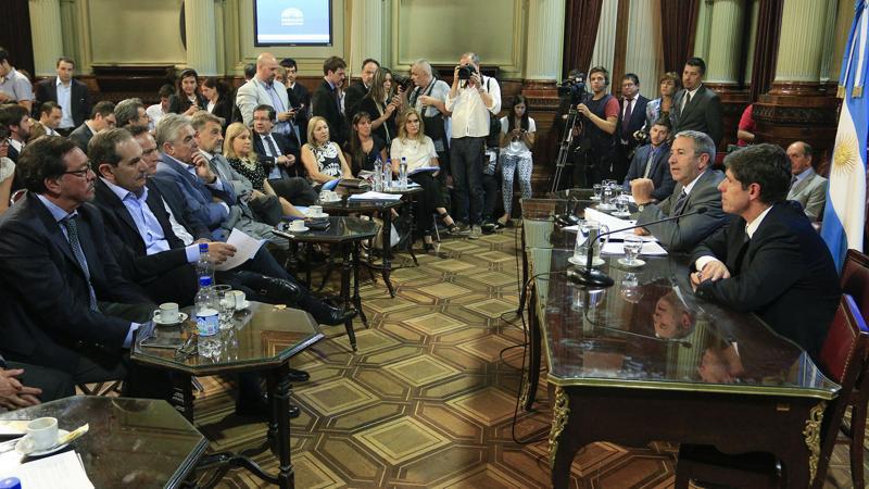 Comisión de Presupuesto y Hacienda del Senado discutiendo el nuevo proyecto oficial del Impuesto a las Ganancias.