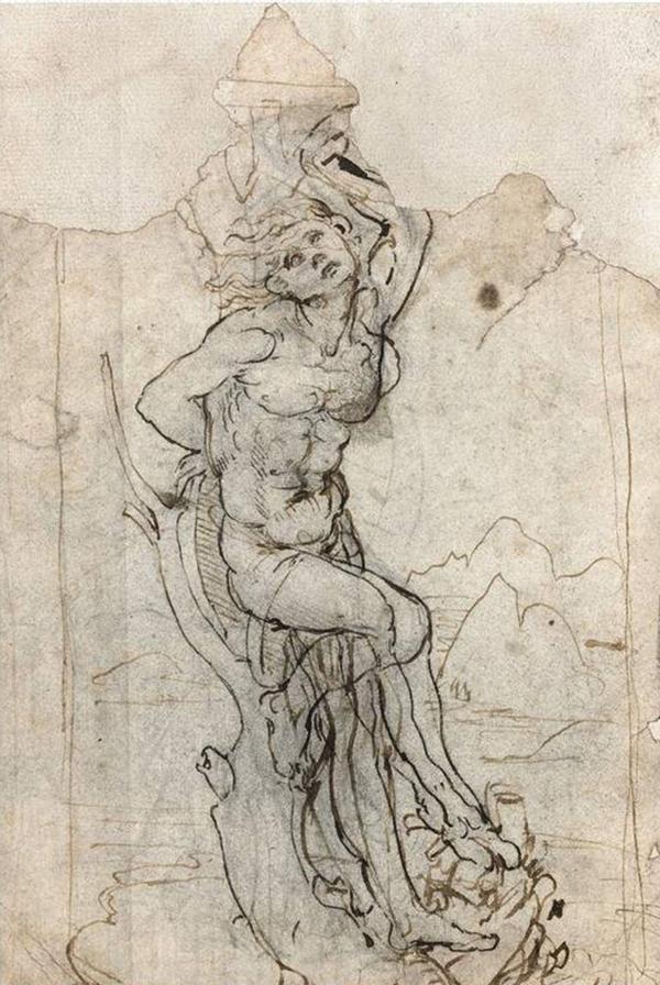 """""""El Martirio de San Sebastián"""", de Leonardo Da Vinci. El boceto estaba perdido desde hacía décadas."""