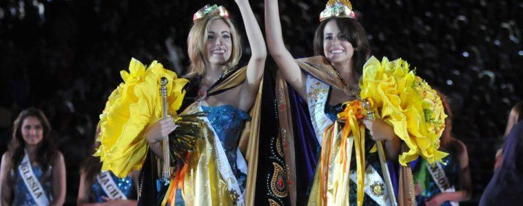 Daniela San Nicola y Marcela Giselle Fernández, en la Fiesta Nacional del Sol. Esta actividad fue prohibida hoy en Neuquén.