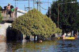 La Emilia , 17 de Enero de 2017 Inundacion en la Localidad de la Emilia  Foto: JUAN JOSE GARCIA
