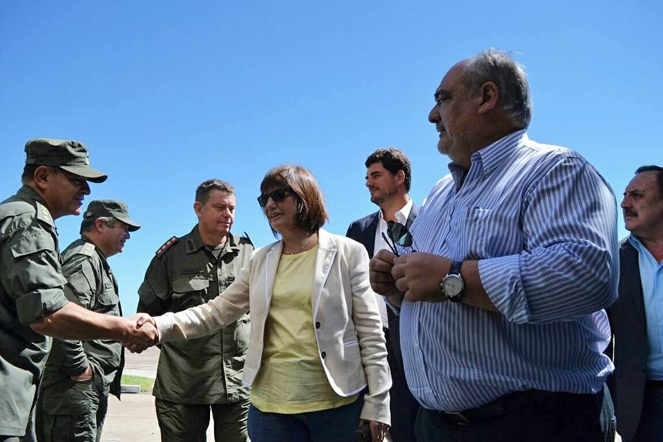 La llegada de la Ministra de Seguridad, Patricia Bullrich, a Corrientes.