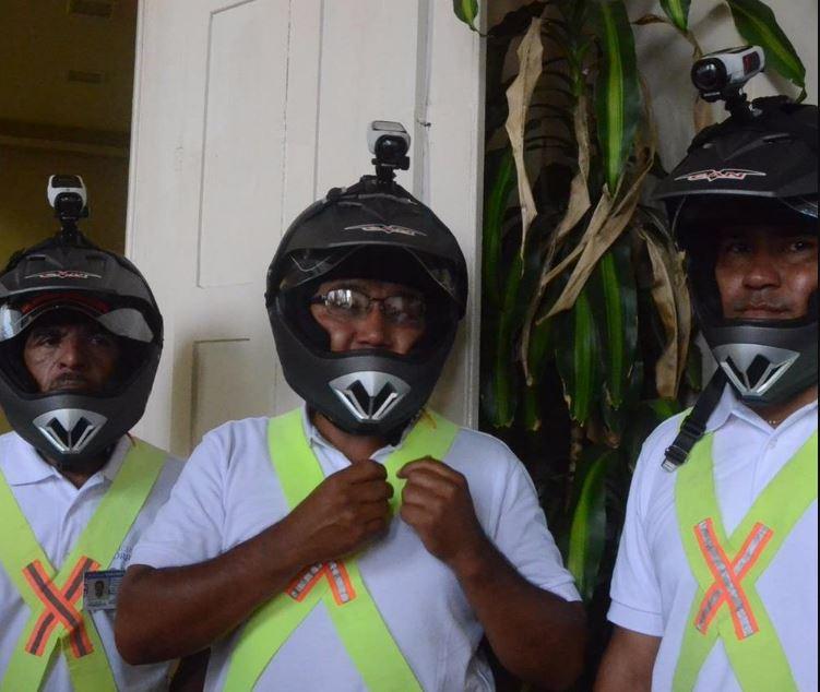camaras en casco inspectores