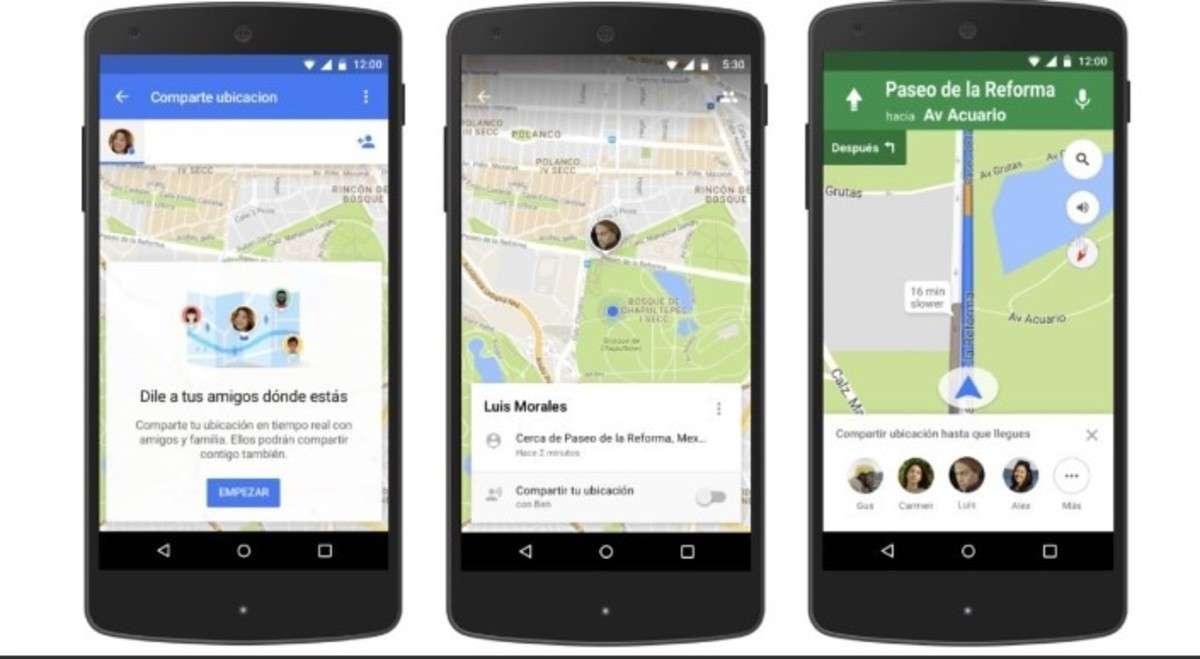 """Así funciona la nueva aplicación de Google Maps para seguir a las personas en """"tiempo real""""."""