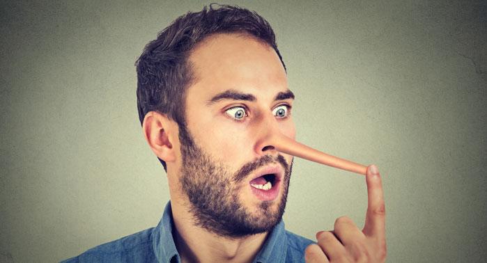 mentiroso nariz grande