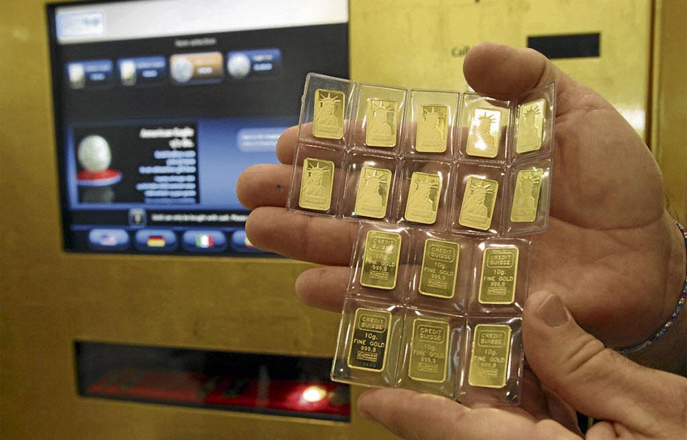C mo es el cajero autom tico que entrega lingotes de oro for Como cobrar en un cajero automatico