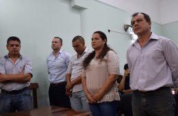 CULPABLES. Los cinco policías que fueron condenados por la muerte de Raúl Cardozo.